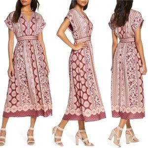 Gal Meets Glam Liza Print Charmeuse Dress